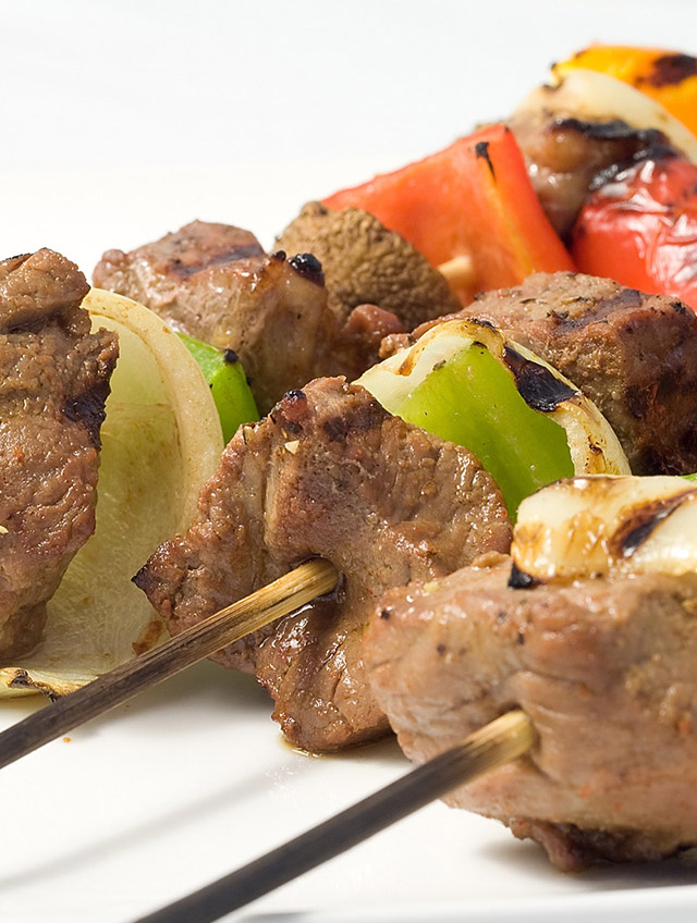 Recipe for Marinated Beef and Veggie Skewers - Life's Ambrosia Life's...