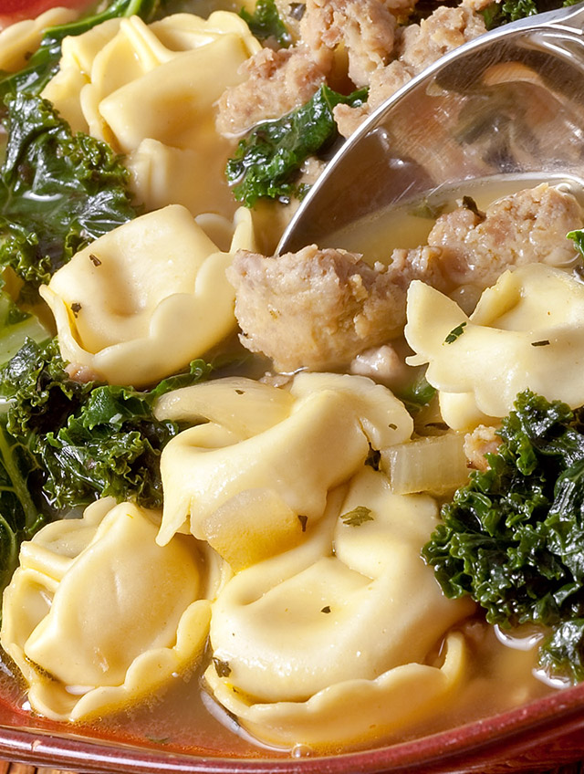 Cheese Tortellini Soup With Turkey Italian Sausage And ...