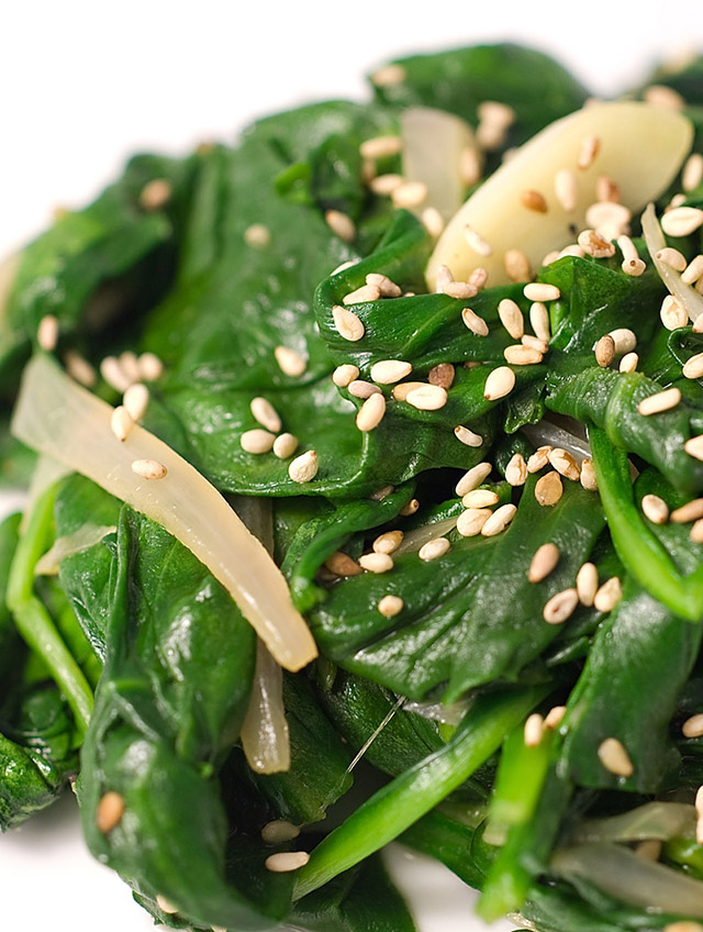 Recipe for Sauteed Spinach with Toasted Sesame Seeds - Life's Ambrosia ...