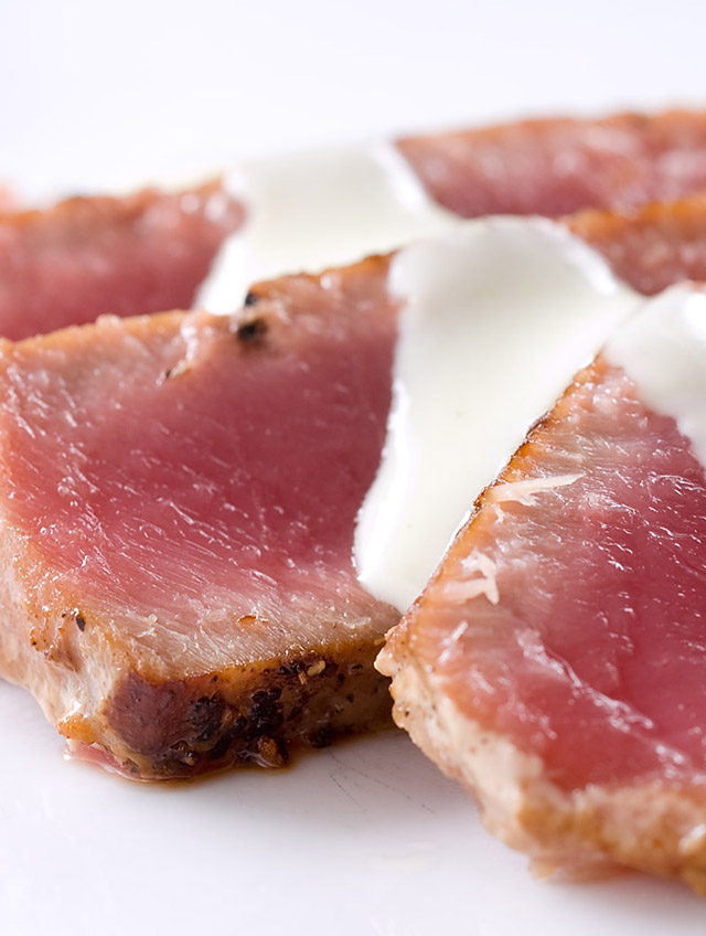 Recipe for Seared Ahi Tuna with Wasabi Cream - Life's Ambrosia Life's...