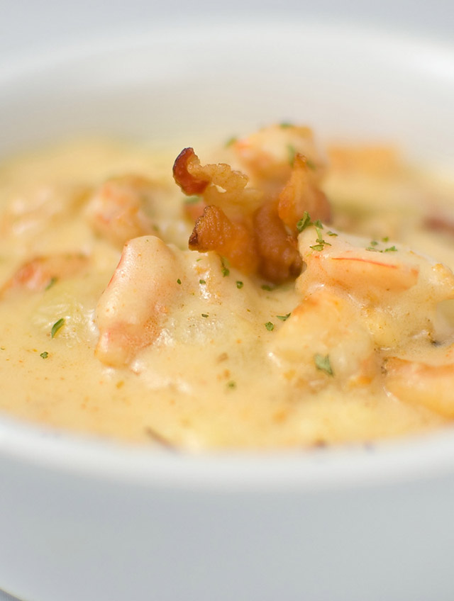 Creamy Grits With Rosemary Bacon Recipe — Dishmaps