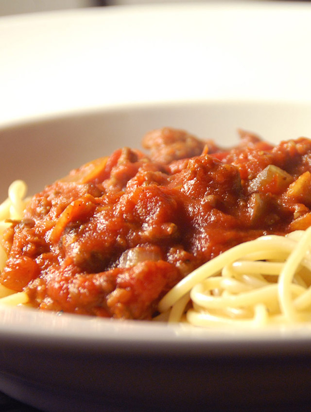 Recipe for Spaghetti with Meat Sauce - Life's Ambrosia Life's Ambrosia