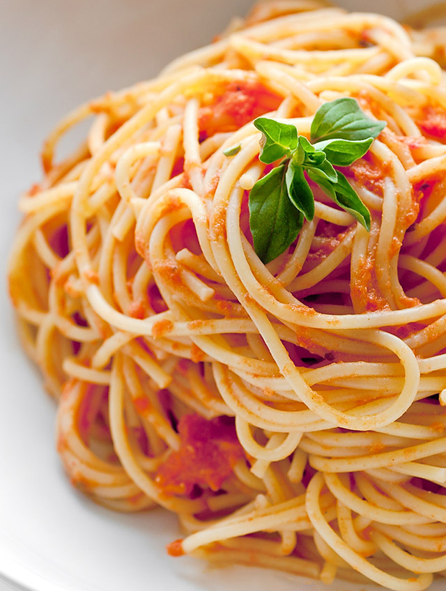 Recipe for Spaghetti with Creamy Marinara - Life's Ambrosia Life's ...