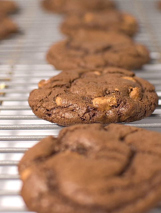 Recipe for Triple Chocolate Peanut Butter Cookies - Life's Ambrosia ...