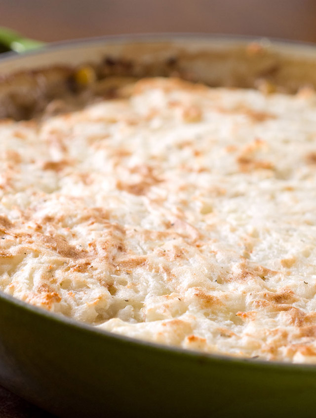 Turkey and Mushroom Shepard's Pie